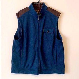 Tasso Elba Navy Blue Sweater Knit Vest Size XXL